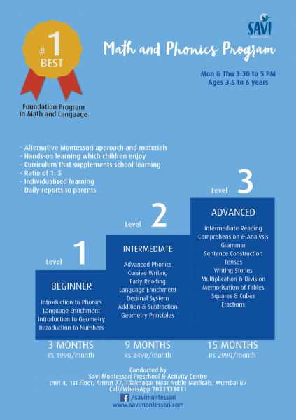 Math and Phonics Savi Montessori