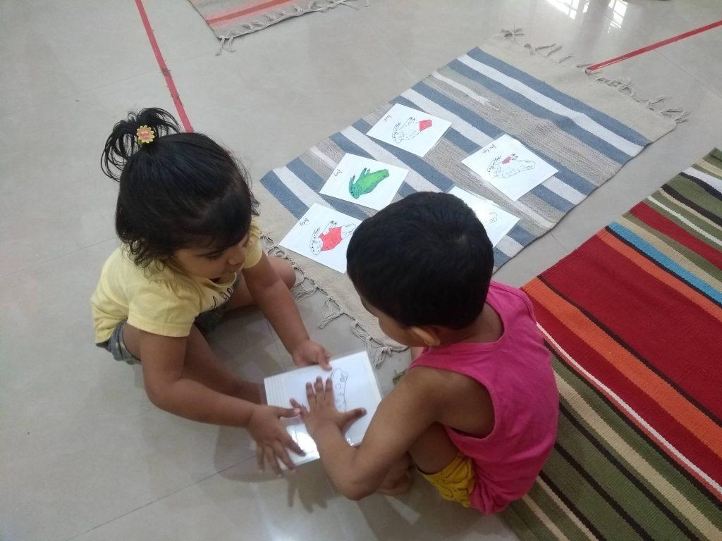 Children taking turns to be the teacher