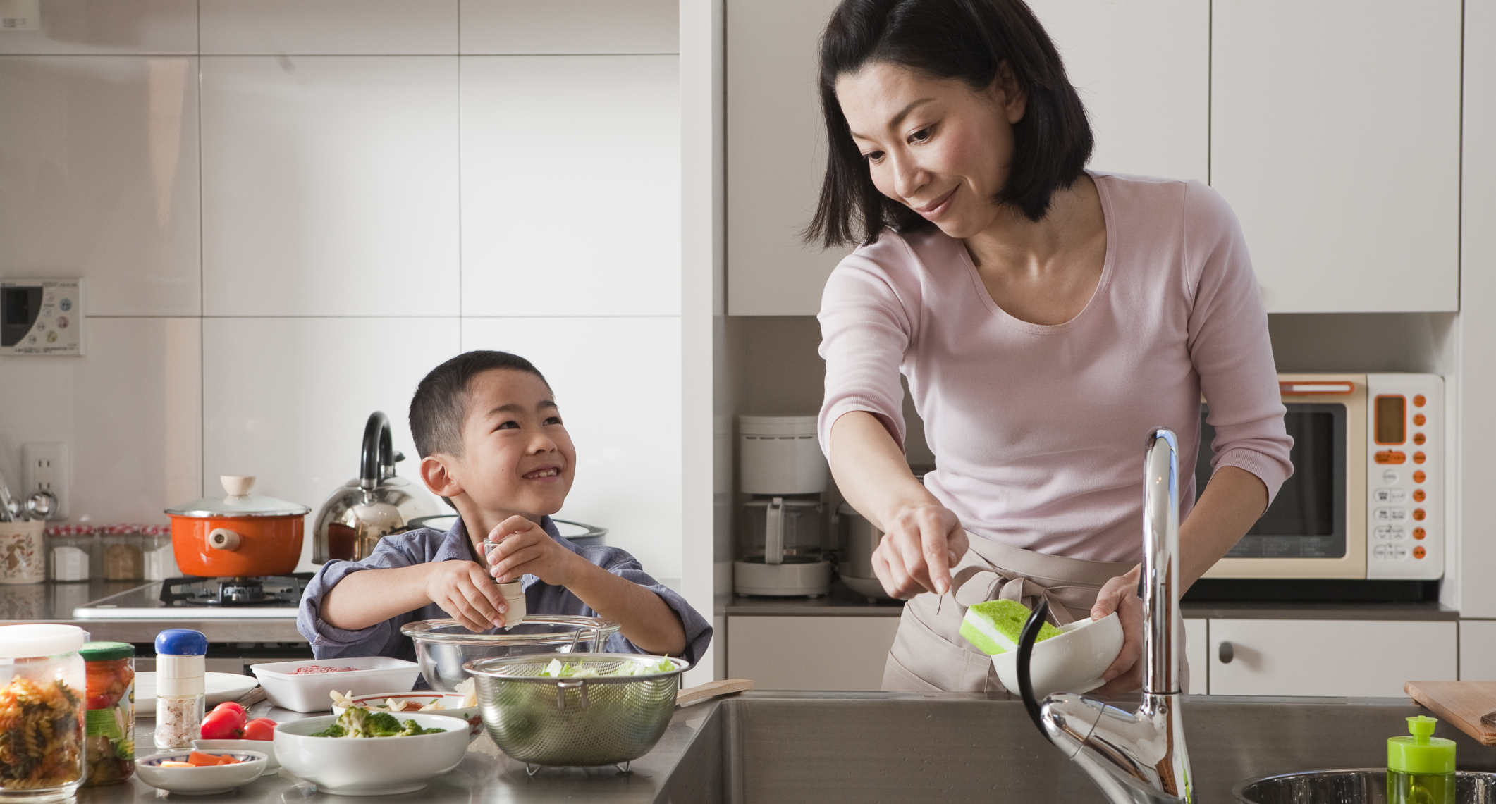 Benefits of children in the kitchen